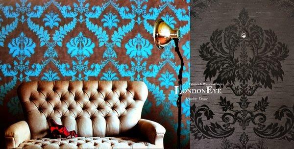 【LondonEYE】進口奢華璀璨系列 • 巴洛克Damask •  施華洛世奇水鑽壁紙Crystal • BLING首選