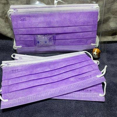 現貨上好🌈夢幻紫🌈成人平面口罩(10入)