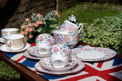 【旭鑫骨瓷】Crown Staffordshire 春日時光 Springtime 骨瓷 瓷器 古董(D.01)