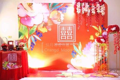 Orange Moon桔月/7900元高雄市區專人到場婚禮佈置/大紅中國風/金獅湖保安宮