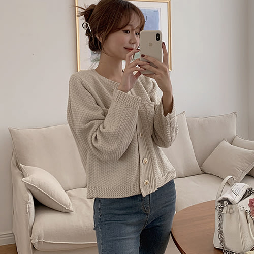 i-Mini 正韓|時尚氣質小香風金釦針織小外套|2色‧ 韓國連線‧代購‧空運【11033304ev】