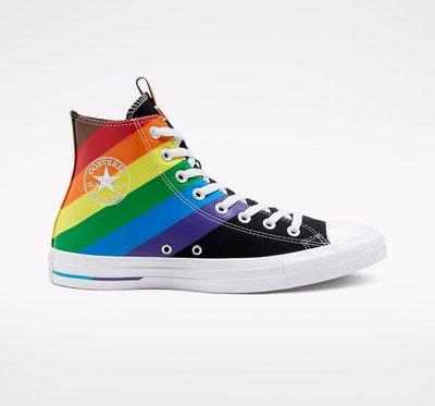 Converse Pride Chuck Taylor All Star 彩虹帆布鞋 黑色款 167759C。太陽選物社