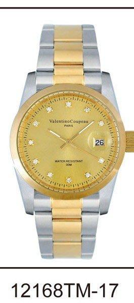 (六四三精品)Valentino coupeau(真品)(全不銹鋼)精準男錶(附保証卡)12168TM-17