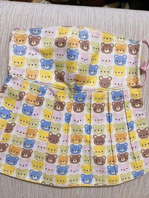 天使熊雜貨小鋪~新純手工日本布立體口罩(小熊)大人加長版-單車必備 全新現貨
