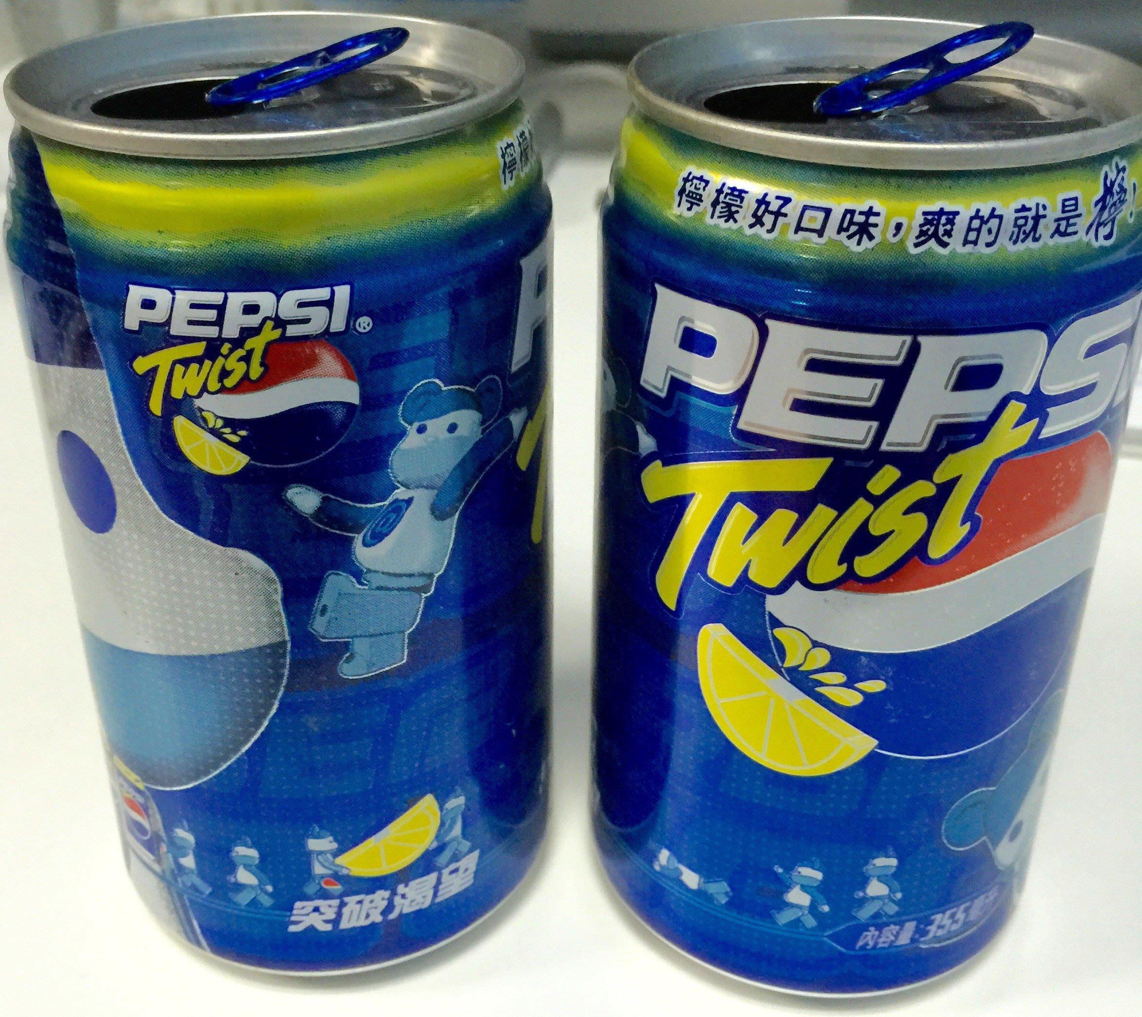 Pepsi 百事可樂 Medi com Toy BE@RBRICK  紀念罐 2罐