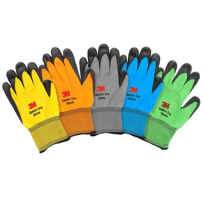 【亮亮生活】ღ 3M止滑耐磨手套 灰色 ღ 舒適 透氣 耐用 耐磨 極佳抓握度