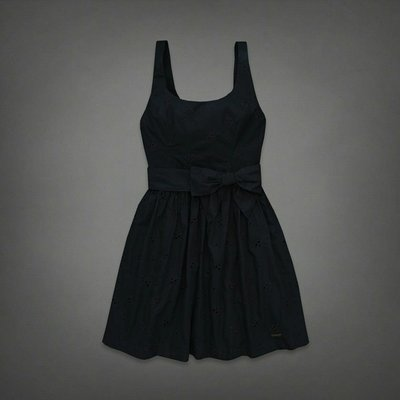 ☆Abercrombie&Fitch☆全新正品附吊牌Alicia Eyelet Lace合身洋裝(現貨深藍0號在台)