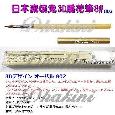 給您最專業的光療筆~《802日本流氓兔3D雕花筆8#》~單支刊登款;高品質、低價格,輕鬆完成美甲藝術創作