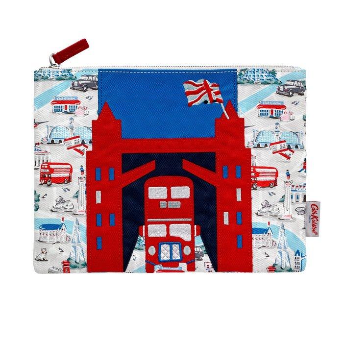 Ariel's Wish預購英法代購Cath Kidson英國倫敦鐵橋倫敦塔橋雙層巴士化妝包收納包倫敦限定版9/30寄出