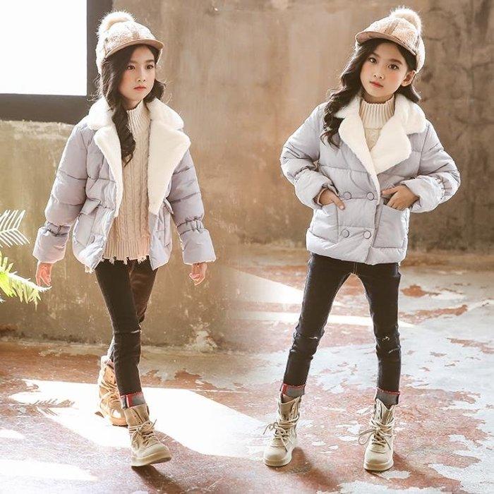 外套 女童棉衣短款兒童洋氣棉服棉襖外套