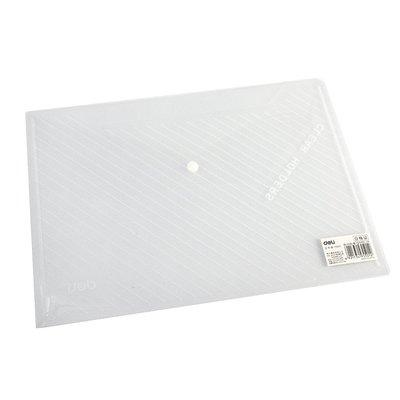 A4透明絲印袋 按扣公文袋檔案袋 文件包學生試卷袋資料袋得力5501斜背包 公事包 手提筆電包 公文包 手提包