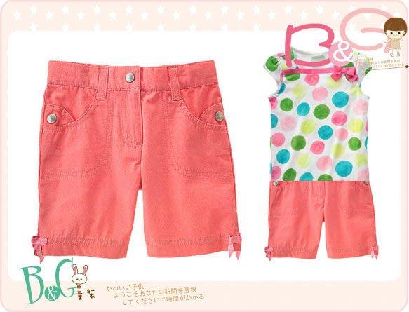 【B& G童裝】正品美國進口GYMBOREE 蝴蝶結粉紅色格紋布短褲8yrs