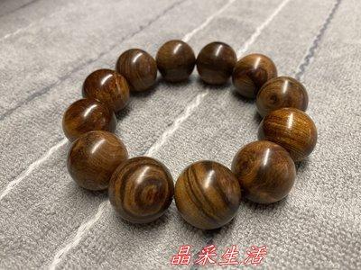 【晶采生活】三峽滿月圓肖楠手珠佛珠20mm(急沉)0192004