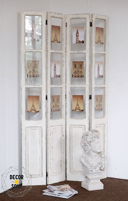 DS北歐家飾§LOFT工業風白色實木 屏風 隔間 裝潢裝飾擺設復古仿舊仿鐵鏽工作室咖啡廳餐廳擺件 設計美式鄉村風格田園風