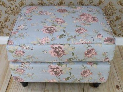 沙發 2人 / 3人 /沙發凳/L型/跨腳椅/客廳椅/小孩椅(藍底玫瑰)