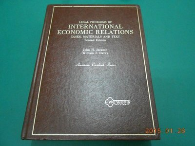 《LEGAL PROBLEMS OF INTERNATIONAL ECONOMIC RELATIONS》八成新