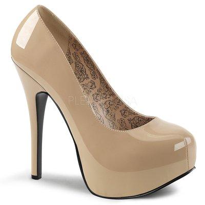 Shoes InStyle《五吋》美國品牌 PINK LABEL 原廠正品漆皮厚底高跟包鞋有大尺碼 11-16碼『駝色』