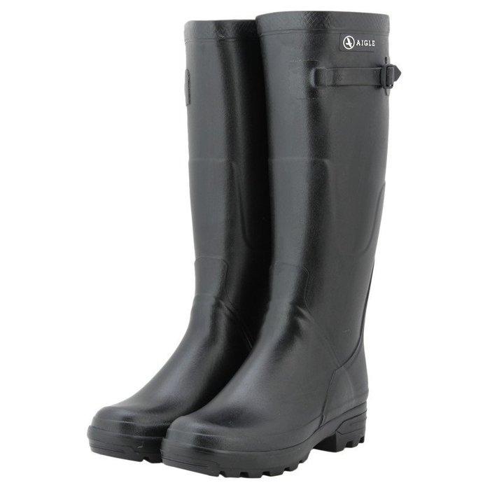 INDiCE ↗ 台灣未發 AIGLE Benyl 頂級經典手工女性雨靴 M筒圍 法國製 時尚黑