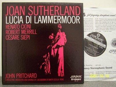 【DECCA LP名盤】870.董尼采第:拉美莫的露淇亞,蘇莎蘭/Pritchard/Santa Cecilia,3LP