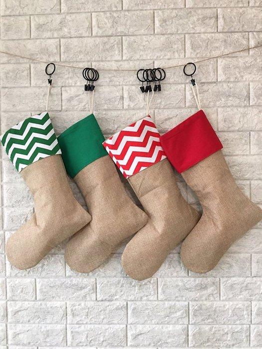 襪子造型聖誕禮物袋/掛飾