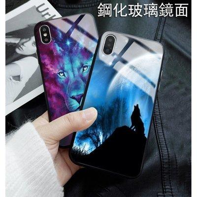 iPhone12原宿風個性 狼 鋼化亮面 手機殼 iPhone11/XR/XS/XS MAXi7 plus/i8plus