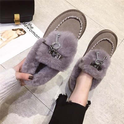 【Trend Sh】2018冬季新款雪地靴女短筒羊毛短靴真皮包子鞋保暖厚棉鞋豆豆鞋女