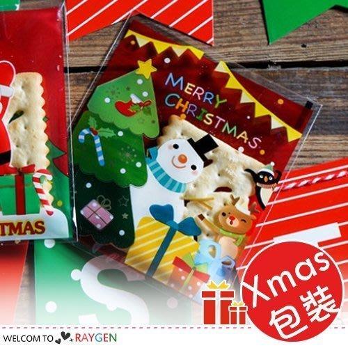 八號倉庫 烘焙餅乾X'MAS聖誕雪人禮物紅底自黏袋 單售【1T020Y556】