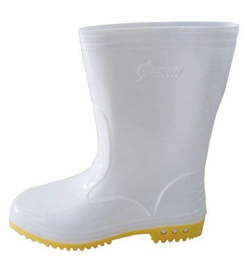 ☆°萊亞生活館~~工作鞋。台灣製高級雨鞋【A193白色膠鞋-女生款】有內裡-舒適好穿