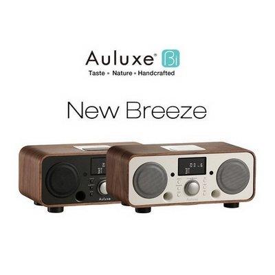 Auluxe 歐樂絲 New Breeze 無線藍牙音響 NFC功能 免持接聽 收音機 鬧鐘功能 復古工藝胡桃木/黑色