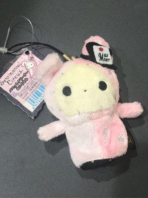 *凱西小舖*日本進口正版SAN-X悲傷馬戲團Sentimental Circus波波 手指螢幕擦手機吊飾
