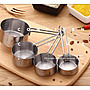 430不銹鋼4件組合套裝量勺帶刻度 蠟燭加熱手...