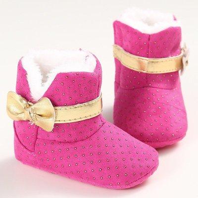 鞋鞋樂園-時尚桃色雪靴-學步鞋-嬰兒鞋...