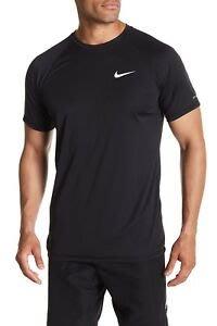 【鞋印良品】NIKE DRI-FIT速乾科技 SOLID 短袖防曬T恤 NESS9531-001 黑 40+抗UV材質