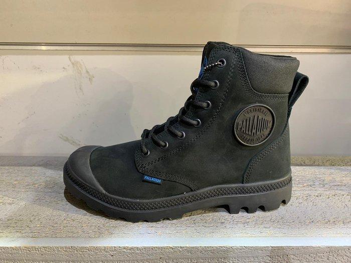 南◇2019 6月 PALLADIUM PAMPA CUFF WP LUX 防水 牛皮軍靴 73231001 全黑色
