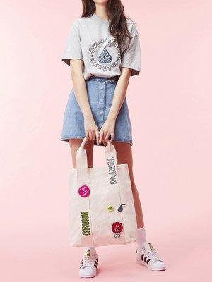 ☆AirRoom☆【現貨】WHITE BLANK Sweet More Spangle Tee 灰 短袖 巧克力