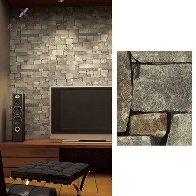 【夏法羅 窗藝】日本進口 仿建材 仿石頭 仿石塊 低調質感 擬真壁紙CF_098511