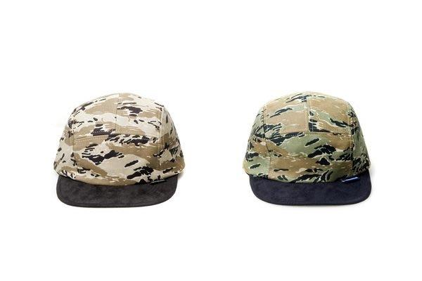 { POISON } DeMarcoLab OD CAMO CAMP CAP 日本特殊迷彩布料 麂皮帽簷 透氣孔硬挺五片帽 五分割帽