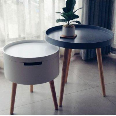 實木儲物小茶几套裝($598包送貨)北歐茶几簡約現代床頭桌創意沙發邊幾日式圓幾簡易邊桌