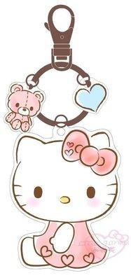 ♥小花花日本精品♥Hello kitty凱蒂貓造型悠遊卡- 造型悠遊卡愛心款 鑰匙圈可掛搭捷運必備-預3
