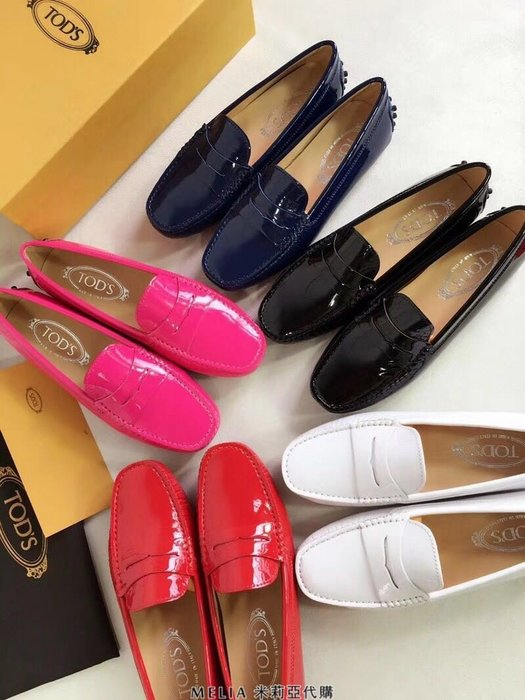 Melia 米莉亞代購 TOD'S TODS 義大利代購 英倫風格 豆豆鞋 娃娃鞋 懶人鞋 開車鞋 皮鞋  女款 漆皮