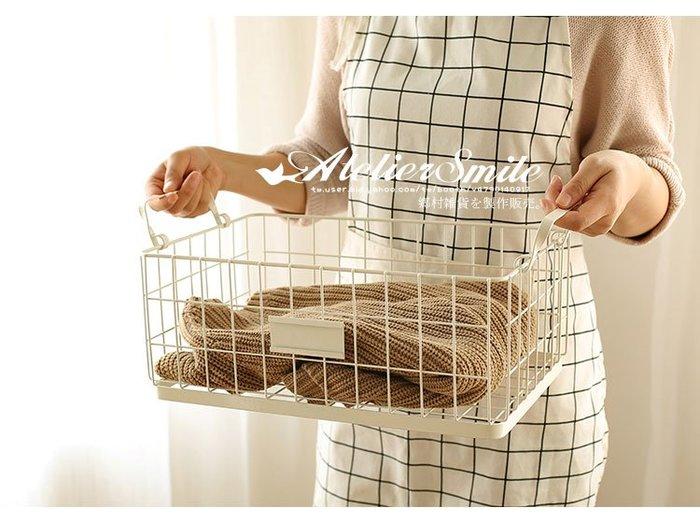 [ Atelier Smile ]  鄉村雜貨 北歐風 金屬鐵製收納籃 ins 置物籃 鐵籃 桌面收納 雜物籃 # 大