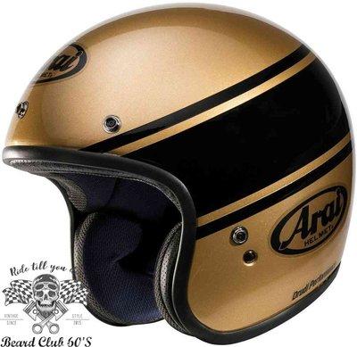 ♛大鬍子俱樂部♛ Arai ® Freeway Classic Bandage 復古 Cafe 安全帽 銅金色/黑
