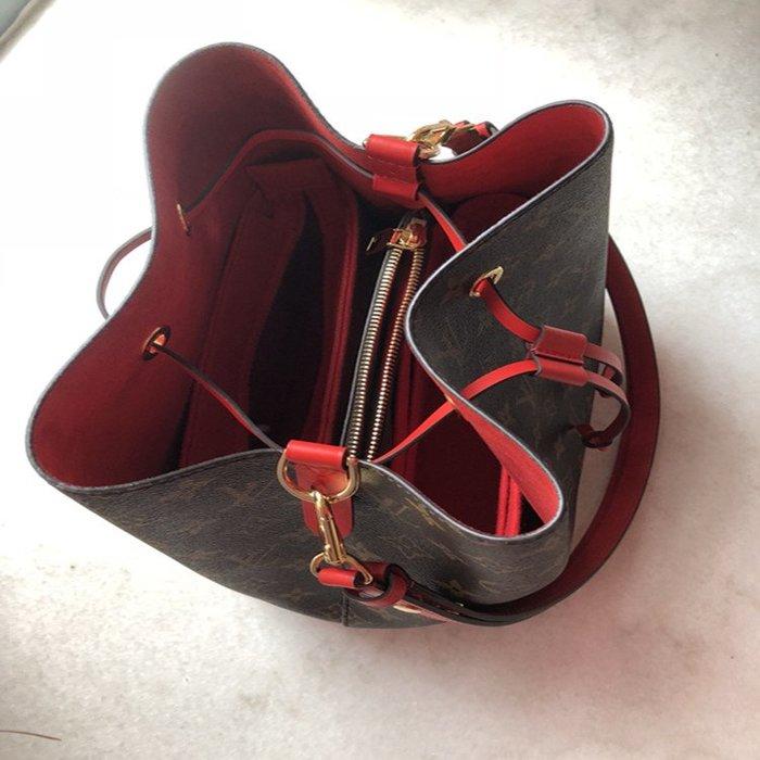 創意 便攜 大容量鴻創 LV neonoe水桶包內膽收納包撐專用定型內襯化妝包包中包定做