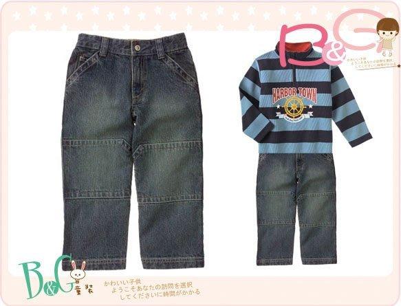 【B& G童裝】正品美國進口GYMBOREE藍色厚牛仔長褲7yrs