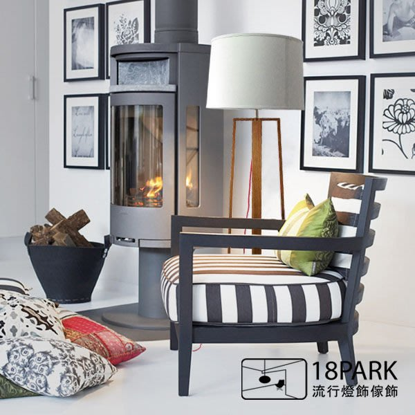 【18Park 】北歐原木風格設計款 Natural wood [ 自然木落地燈 ]