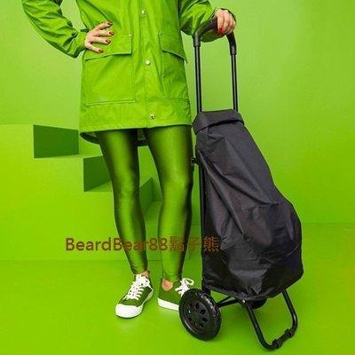 鬍子熊 IKEA代購~推車式購物袋.菜籃車(純黑色)二段把手 車可摺疊 袋可裝卸 內側附可拆式收納袋RADARBULLE