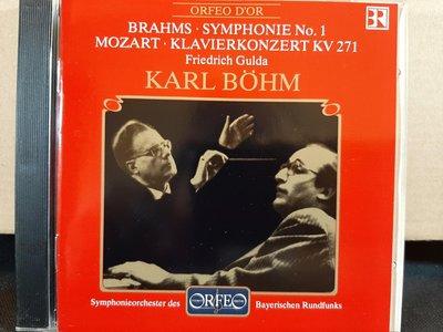 Gulda,Bohm,Brahms-Sym No.1,Mozart-P.c kv271顧爾達,貝姆指揮巴伐利亞廣播樂團演繹布拉姆斯第一號交響曲,莫扎特鋼琴協奏曲