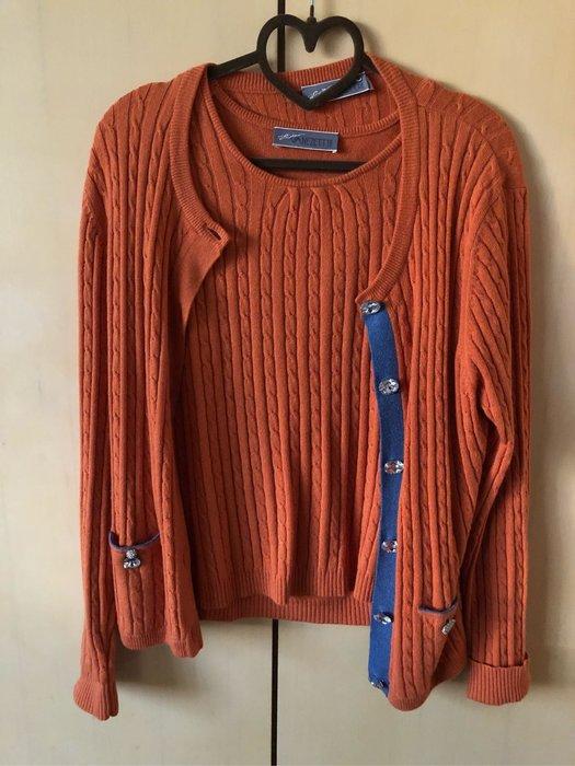 意大利精品羊毛兩件式針織上衣