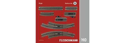 傑仲 博蘭 FLEISCHMANN 鐵軌零件 Track pack – Statiom Set B 6190 HO