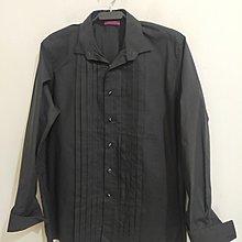 MOSS BROS百摺禮服型袖扣反折型袖口休閒襯衫